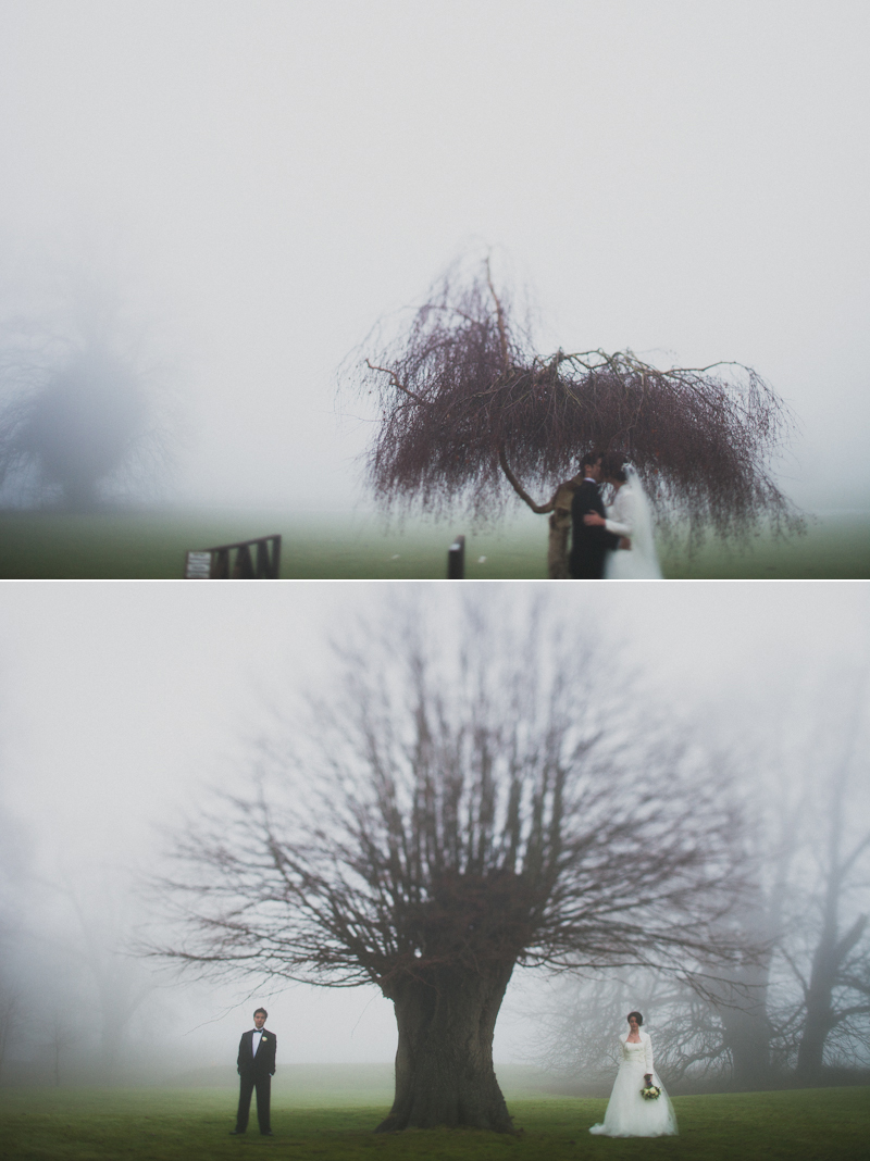 foggy day wedding