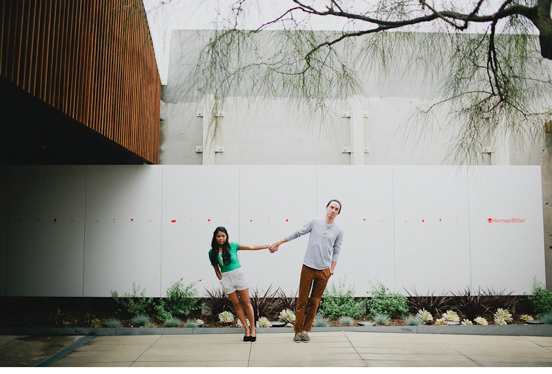 JB 40 Brendon & Justine. Engaged.  Herman Miller Design Center.